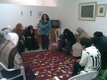 انهاء ورشة عمل مع مجموعة نساء في عرعرة