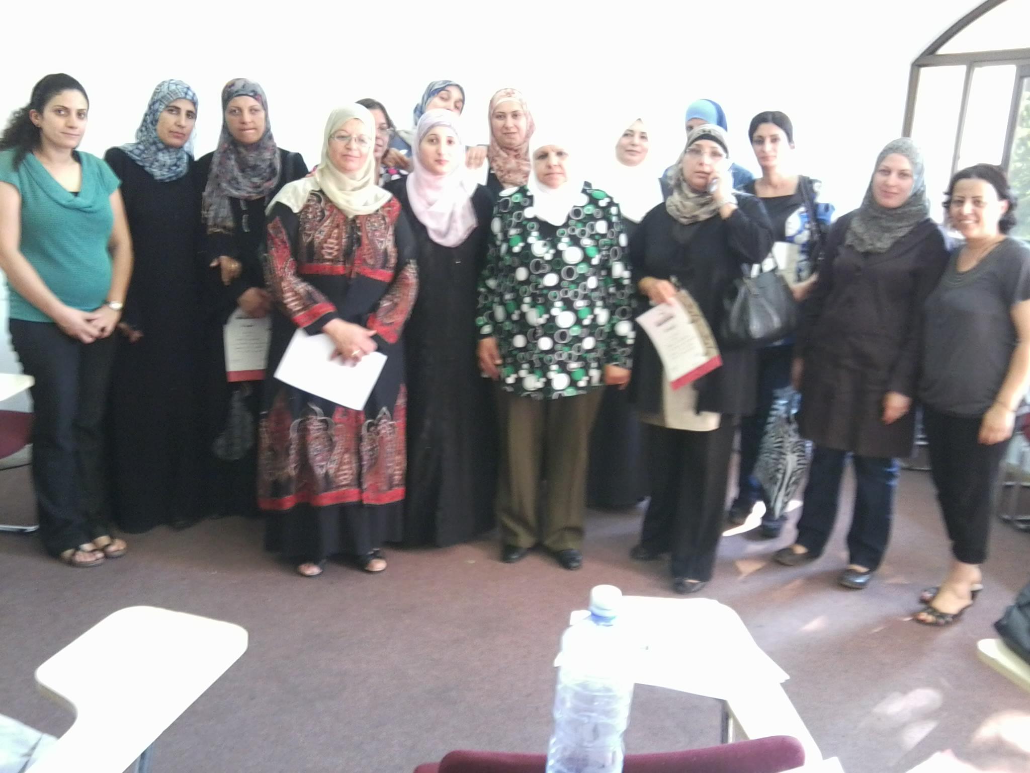 اختتام دورة للتربية الجنسية لمجموعة حاضنات ومعلمات روضات في القدس