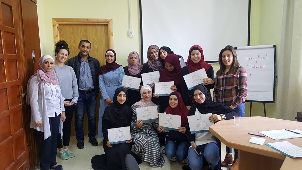 المنتدى  ينفذ تدريب مع كلية علم النفس في جامعة النجاح الوطنية