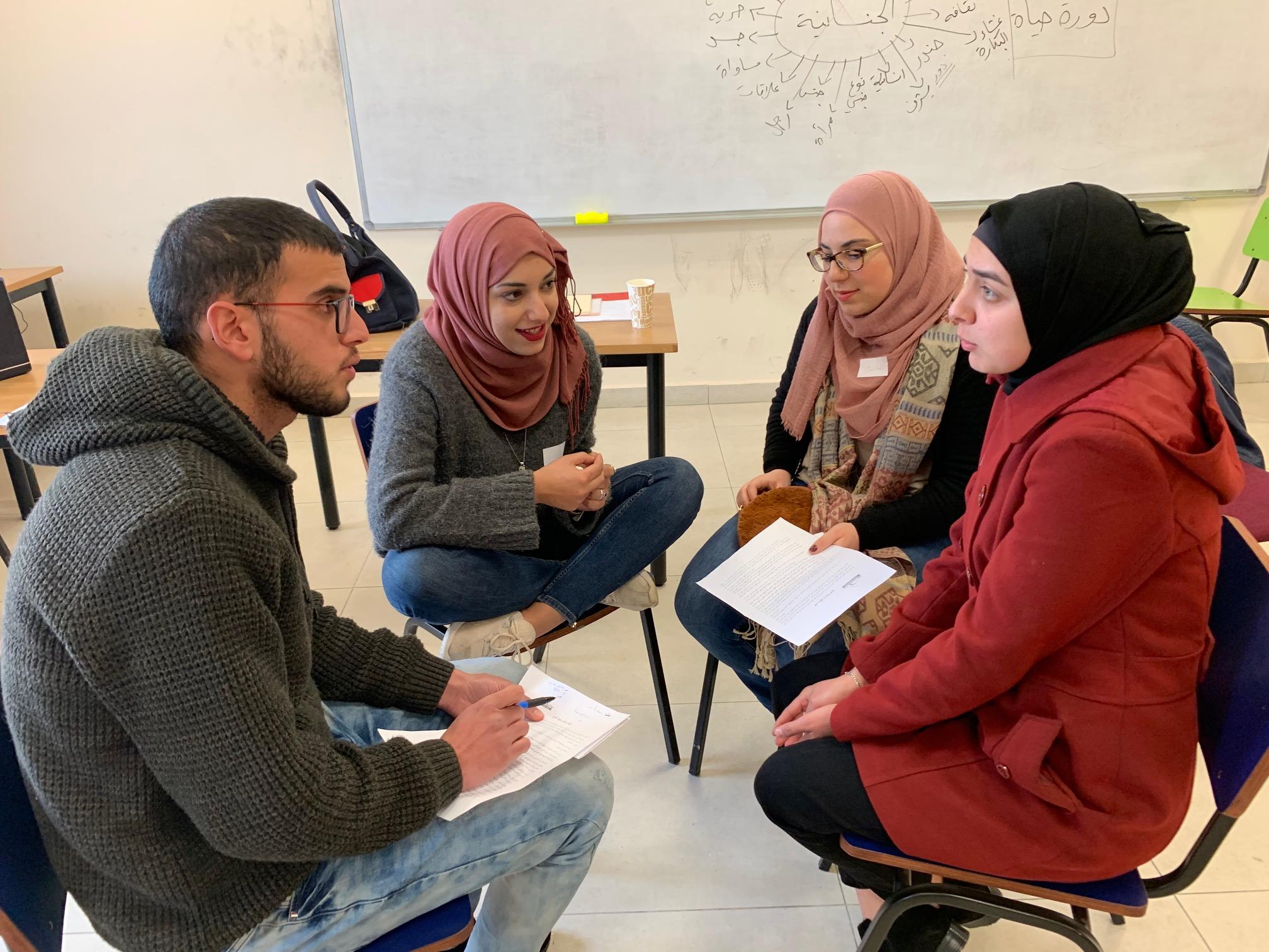 منتدى الجنسانية يختتم تدريباً في الجنسانية لمجموعة طلبة بجامعة بيرزيت
